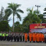 Polres Natuna Gelar Apel Kesiapan Pasukan Pengamanan Pelantikan Presiden Dan Wakil Presiden RI