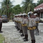 Pelantikan DPR RI ,Polres Natuna Bersiaga di Gedung DPRD Kab Natuna.