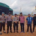 Polsek Batuaji Pantau Kegiatan Peresmian Pembangunan Kapal Angkut Tank Di PT. Bandar Abadi Shipyard