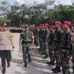 Pelantikan Presiden Periode 2019-2024, Kapolresta Barelang Bersama Dandim 0316 Batam Pimpin Apel Kesiapan TNI/Polri dan Instansi Terkait