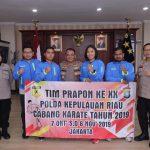 Audiensi Kapolda Kepri Bersama Tim Prapon XX Polda Kepri Cabang Karate Tahun 2019