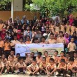 Kapolsek Menghadiri Penyerahan Beasiswa Dari Bright PLN Batam Bekerja Sama Dengan Himpunan Melayu Raya Kepada Anak-Anak Hinterland Pulau Terong Belakang Padang