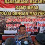 Kegiatan Basembang Bacarite Polres Kepulauan Anambas dalam rangka menjalin Silahturahmi dengan Awak Media