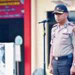 Dalam Rangka Mengantisipasi Yang Diduga Bom Bunuh Diri Polres Bintan Beserta Jajarannya Laksanakan Apel Kesiapsiagaan Dan Latihan Sispam Mako