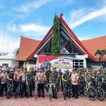 Polres Bintan Turut Memeriahkan Goes Sinergitas Bersama TNI-Polri