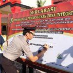Polres Lingga Canangkan Pembangunan Zona Integritas