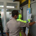 Penyemprotan Cairan Disinfektan di Anjungan Tunai Mandiri (ATM) yang berada di Wilayah Hukum Polres Natuna dalam rangka mengantisipasi penyebaran Virus Covid-19 di Kab. Natuna