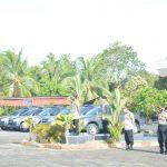 Polres Natuna Melaksanakan Apel Pengecekan Personil Dan Pengecekan Kendaraan Dinas Dalam Rangka Operasi Aman Nusa Penanganan Covid-19 Dan Pemusnahan Barang Bukti Kadaluarsa