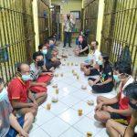 Sat Tahti Polres Bintan Buka Bersama Para Tahanan
