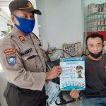 Polda Kepri Dukung Pelaksanaan New Normal dengan Beri Himbauan dan Bagikan Brosur oleh Ditbinmas Polda Kepri
