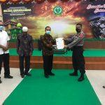 Penyerahan MoU Pengukuran ITK  Polres Bintan dengan  STAIN ABDUL RAHMAN