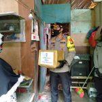 Sasar Warga Yang Belum Tersentuh Bantuan, Polres Tanjungpinang Kembali Bagikan Sembako