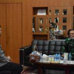Kunjungan Silaturahmi Danrem 033/WP Ke Polres Tanjungpinang Wujud Sinergi Dan Harmonisasi TNI Polri