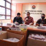 Ditreskrimsus Polda Kepri Berhasil Amankan 2389 Unit Handphone Black Market