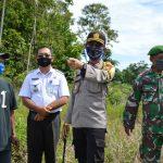 Kapolres Natuna Resmikan Kambong Sigab Dan Peninjauan Lahan Ketahanan Pangan Di Desa Semedang Kec. Bunguran Batubi