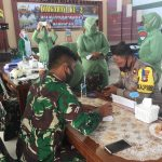 Wakapolres Natuna Hadiri Kegiatan Donor Darah Dalam Rangka Hut Ke-2 Batalyon Komposit 1/Gardapati