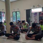 Satlantas Polres Natuna laksanakan Syukuran Dalam Rangka Hut Lalu Lintas Ke-65 Tahun 2020 Polres Natuna, Protokol Kesehatan Tetap Diterapkan.