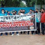 Pengamanan Aksi Mogok Kerja Tolak Omnibus Law RRU Cipta Kerja Di Wilayah Kec. Batuaji Berlangsung AMAN