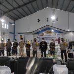 KPU Bintan Bersama Polres Bintan Gelar Simulasi TPS Sesuai Protokol Kesehatan