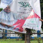 Sejumlah Spanduk Dan Baliho Ucapan Kedatang Imam Besar FPI Di Kabupaten Bintan Di Tertibkan