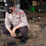Polisi Sambang Bengkel untuk Sosialisasi Covid 19