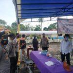 Polres Lingga Lakukan Pengamanan Simulasi Pemungutan dan Penghitungan Suara serta Pengunaan Sirekap di Tingkat TPS