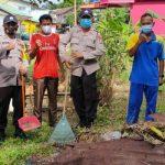 Bhabinkamtibmas Kel. Pulau Buluh Ikuti Goro Bersama Antisipasi Bencana Alam