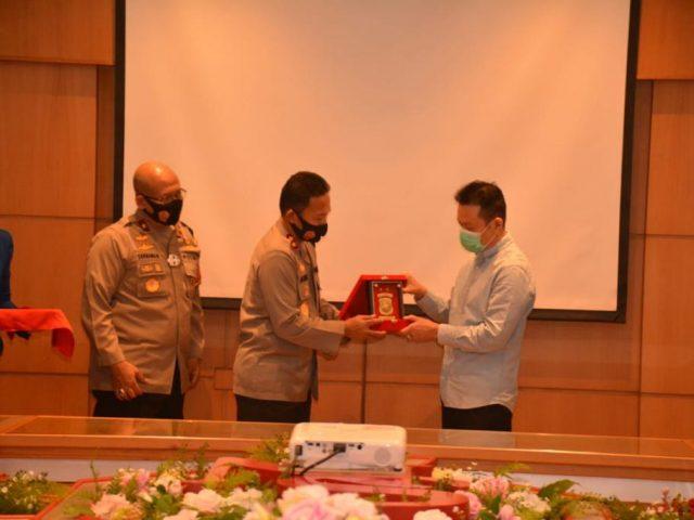 Silaturahmi Kamtibmas Kapolda Kepri dan Pengecekan Prokes di Kawasan Objek Vital PT Sat Nusa Persada Tbk
