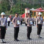 Polres Lingga Gelar Upacara Pemberhentian TidaK Hormat (PTDH) terhadap Personil Polri