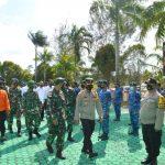 Menindak Lanjuti Arahan Presiden RI, TNI-Polri dan Instansi Terkait di Kabupaten Natuna Laksanakan Apel Kesiapsiagaan.