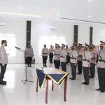 Kapolres Lingga Pimpin Upacara Sertijab 5 Pejabat Utama Polres Lingga