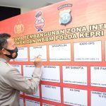 Pencanangan Pembangunan Zona Integritas dan Penandatanganan Pakta Integritas Menuju WBK dan WBBM di Polda Kepri