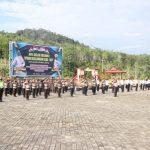 Wakapolres Lingga Pimpin Apel Gelar Pasukan Operasi Keselamatan Seligi 2021