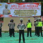 Ciptakan Rasa Aman dan Nyaman Saat Rayakan Idul Fitri 1442 H, Polres Natuna Laksanakan Apel Kesiapsiagaan Operasi Ketupat Seligi-2021