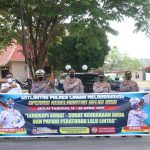 Operasi Keselamatan Seligi 2021, Polres Lingga Bagikan Masker Kepada Masyarakat