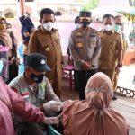 Kapolda Kepri Hadiri Pembukaan TMMD ke-11 Tahun 2021 dan Tinjau Pelaksanaan Vaksinasi di Wilayah Kabupaten Lingga