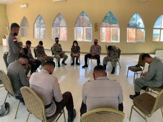 Wujudkan Insan Polri yang Beriman dan Bertaqwa, Satbrimob Polda Kepri Gelar Program Pembinaan Rohani dan Mental