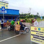 Polres Bintan Laksankan Operasi Pengetatan Disejumlah Wilayah Dalam Rangka Mendukung Program PPKM