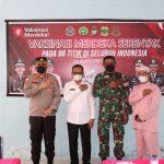 Kapolres Lingga Bersama FKPD Lingga Tinjau Vaksinasi Merdeka Serentak di SMK  N 1 Dabo Singkep