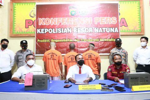 Satreskrim Polres Natuna Bekuk 3 Pelaku Pencurian 38 Unit Baterai Ups RSUD Natuna