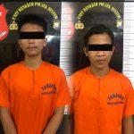 Polsek Bintan Timur Polres Bintan  Berhasil Bekuk 2 Pencuri Sepeda Motor di Batam