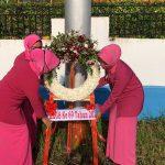 Dalam Rangka HKGB Ke 69 Tahun 2021, Ketua Bhayangkari Cabang Bintan Laksanakan Tabur Bunga Di Makam Pahlawan
