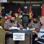 Sat Brimob Polda Kepri Gelar Vaksinasi Massal Untuk Masyarakat